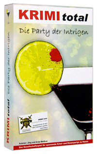 KRIMI total - Die Party der Intrigen (Krimispiel, Krimi, Dinnerparty-Spiel)
